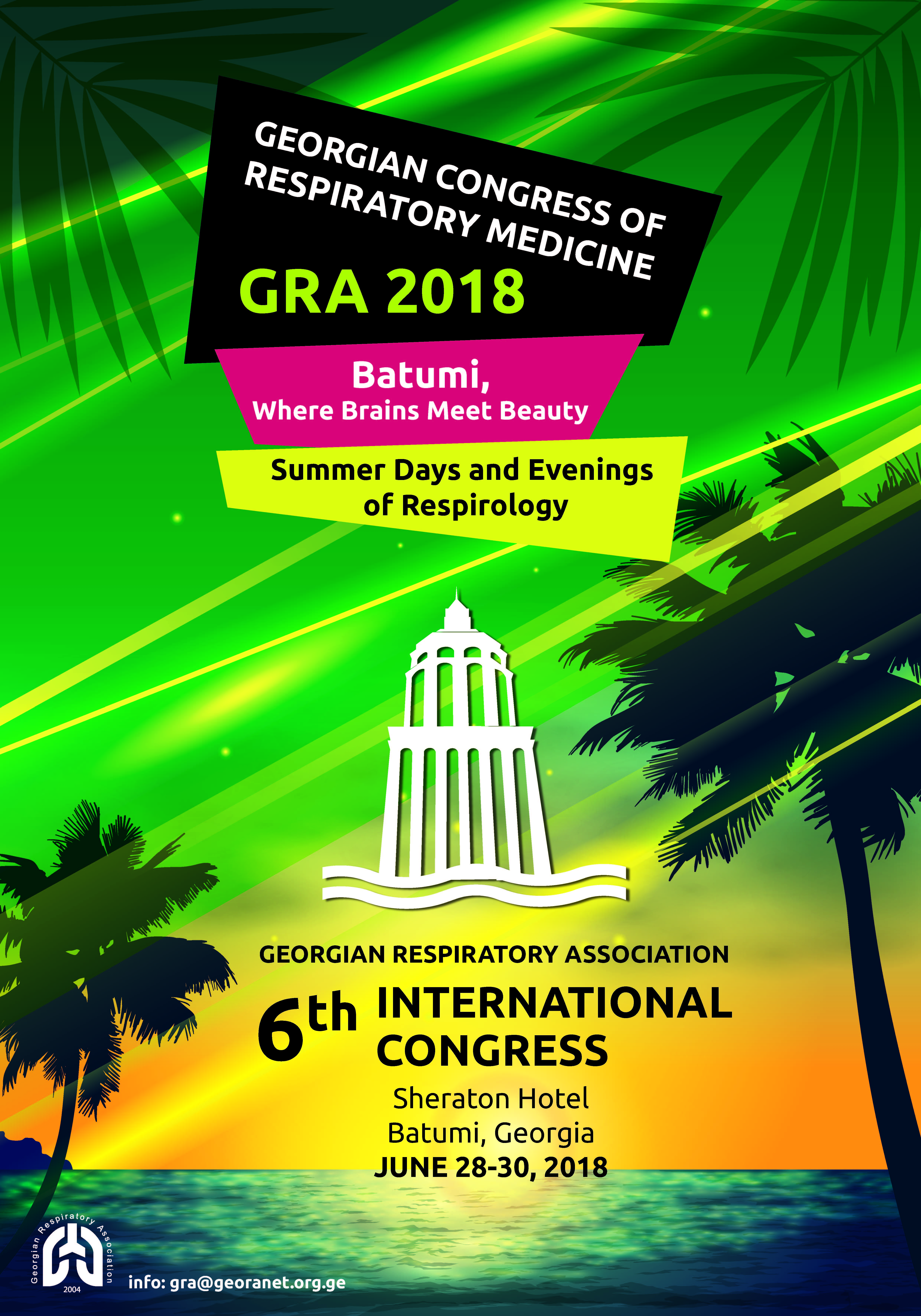 It Is A Great Pleasure To Welcome You 6th International Congress Of The Georgian Respiratory Association We Are Delighted That So Many Esteemed Guests